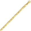 14K Yellow Gold 6.5mm Polished Fancy Link Bracelet